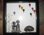 Anniversary - shadow box art -  rock picture -  birthday - wedding - proposal