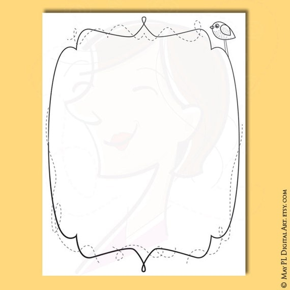 teacher printable page borders whimsical doodle frames whimsy designs children certificate handdrawn clipart 8x11 frame coloring pages 10436