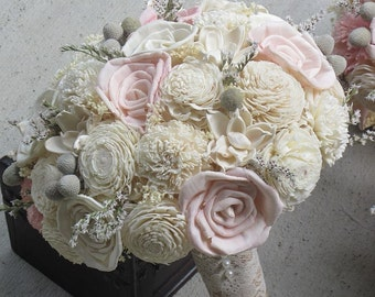 Sola Bouquet, Sola flower bouquet, Pink Bouquet, , Vintage Bouquet, Wood Bouquet, Bride Bouquet, Sola flowers, Wood  flower bouquet