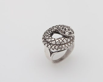 Snake Ring, DESERT SNAKE, 925 Sterling Silver Ring, Silver Snake, Size 6 - ID: 613 - 28113