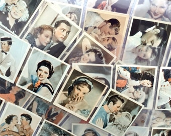 Shots from the films, a full set of 48 cards, circa 1934. Collectable cigarette cards from Godfrey Phillips.