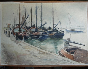 Wil van Dinther  watercolor painting