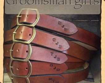 GREAT GROOMSMAN GIFT  Give them a Genuine Leather belt that can be personalized to make a memorable lasting impression they will appreciate