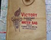 Vintage Victory Sanitary Cool Water Bag Plummer Bag Manufacturer Los Angeles