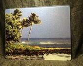Hawaiian Beach Large Glass Cutting Board 12 in x 15 in