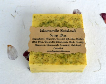 Chamomile Patchouli Soap, All Natural Soap, Glycerin Soap, Chamomile Soap, Patchouli Soap, Patchouli body wash, hippie soap, bath and body