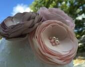 Blush Pink Bridal Hair Flower, Pearl, Flower, Hair Clip, Bridal Hair Accessories, Wedding Hair