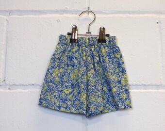 Upcycled Ditsy Print Baby Shorts