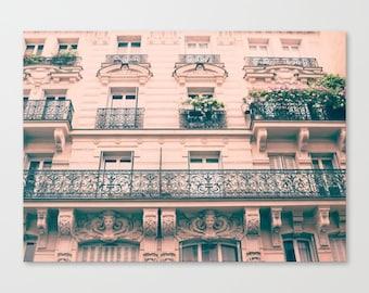 Paris photography, Paris art, Pink Paris, Paris wall art, Paris canvas, Paris architecture art, canvas art, architecture photography