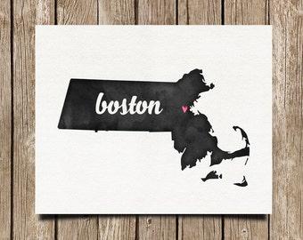 I Love Boston - CUSTOMIZE ANY CITY - 8x10