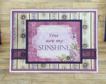 Card of encouragement, Handmade card, greeting card, Floral design