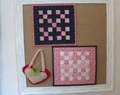Miniature Nine Patch Doll Quilt recently made from antique fabrics  *AnnMade*