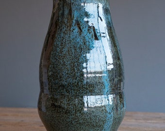 Large Marbled Stoneware bottle