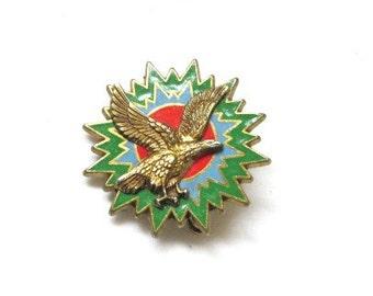 Vintage French military enamel insignia w/ eagle