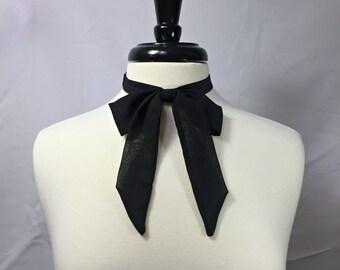Black Chiffon Bow Tie