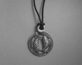Pisces zodiac sterling silver 925 charm pendant necklace horoscope zodiaque pendants