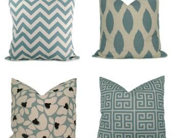 Decorative Pillows - Throw Pillows - Pillow Covers - Blue Pillows -  Blue Pillow Case - Accent Pillow  20x20  Pillow Covers  Lumbar Pillow
