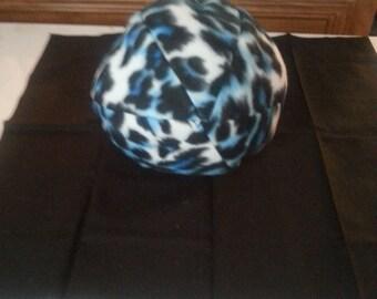 Blue Fleece Leopard Print Ball