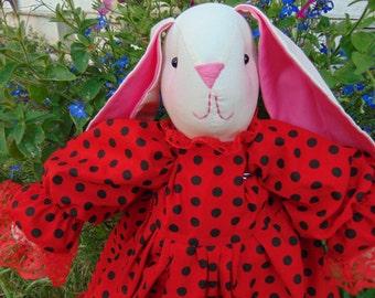 Sally the Stuffed Bunny Rabbit Doll