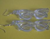 Transparent Blue Sunglass Earrings