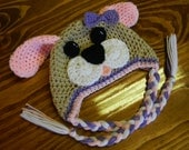 Crochet Puppy Hat With Or Without Attached Bow
