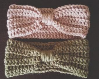crocheted turban headbands