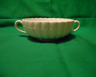 One (1), Flat Cream Soup Bowl, from Copeland Spode, in the Chelsea Wicker Pattern.