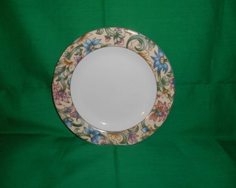 """One (1),  8"""" Salad Plate, from Royal Doulton, in the Jacobean Pattern"""