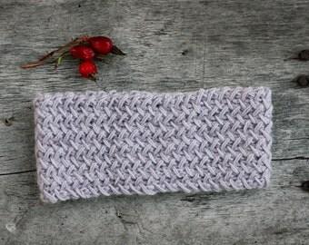 Hand knitted headband, alpaca knit headband, head wrap accessory, wool headband