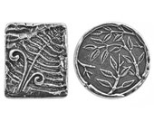 10% OFF Danforth Fern and Bamboo Pewter Shank Buttons