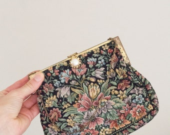 Vintage Antique Floral Gimbel Brothers Small Purse