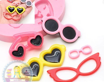 Sun Glasses Mold Set 432L Silicone Mold Fondant Gunpaste Sugar Chocolate Cake topping Jewllery fimo BEST QUALITY