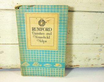 Vintage Rumford Baking Powder Recipe Book 1920s