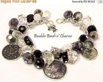 ON SALE Zodiac Charm Bracelet, Zodiac Jewelry, Zodiac Sign Charm Bracelet, Horoscope Bracelet, Astrology Charm Bracelet