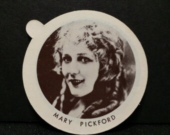 Dixies Ice Cream Lid with Mary Pickford
