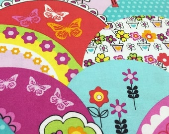 Michael Miller Happy Hills, Clearance Fabric, Remnants, Sale Fabric, Fabric by the Yard, Happy Hills