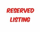 Reserved Listing for K