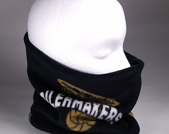 Purdue University BOILERMAKERS Design Ski Gator, Soft Warm Fleece Neck Warmer Gaiter Scarf Headwrap Neckwarmer Team Spirit