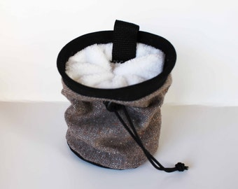 Upcycled Repurposed Material - Chalk Bag - Rock Climbing