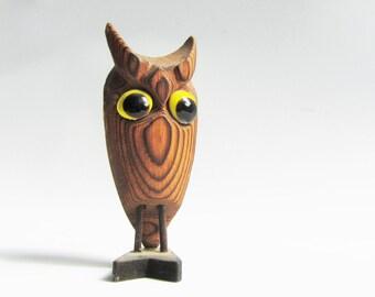 Vintage Mid Century Modern Cryptomeria Owl Figurine