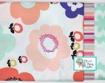 Pillowcase Kit - Gemetric Bliss Peachy Floral