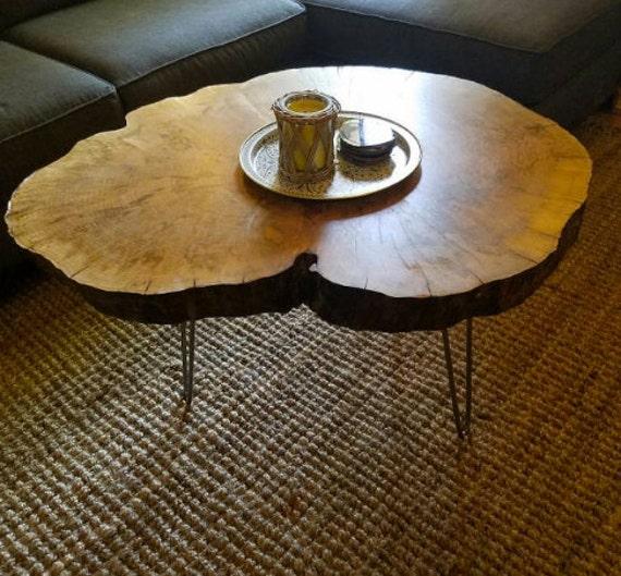 Reclaimed Wood Stump Coffee Table: Tree Stump Table Round Wood Table Reclaimed Wood Side Table