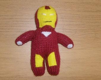 Iron Man, Hand Knitted, Toy, Plushy, Mascot