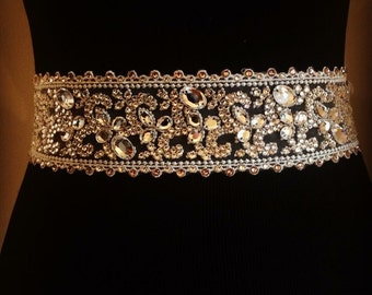 Unique Swarovski crystal bridal belt with other 1500 hand placed crystals!