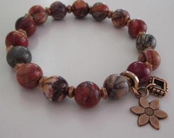 Picture Jasper Bracelet - For Mom, For Her, Gift For Her, Birthday, Anniversary, Natural Stone