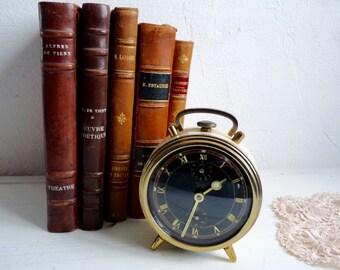 Vintage ALARM CLOCK, in Good Working Order. Art Deco, Jugendstil Clock from the German Brand Kienzle. Very Good Condition, Rare Find.