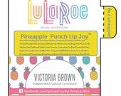LuLaRoe, Lip Balm, 36 tubes, Chapstick, personalized, Label, Lularoe Consultant, Promotional, Advertising, Materials, Pineapple, Branding