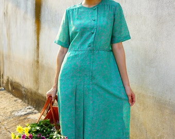 Sale! Vintage Dress/ 80s Dress/ Vintage Japanese Dress/ Womens Dress/ Summer Dress/ Womens Dress/ Floral Dress/ 80s Dress/ Retro Dress