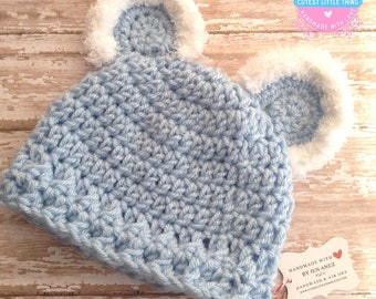 Teddy Bear Hat, Baby Bear Hat, Crochet Teddy Hat, Crochet Teddy Bear Hat, Bear Hat, Baby Teddy Hat