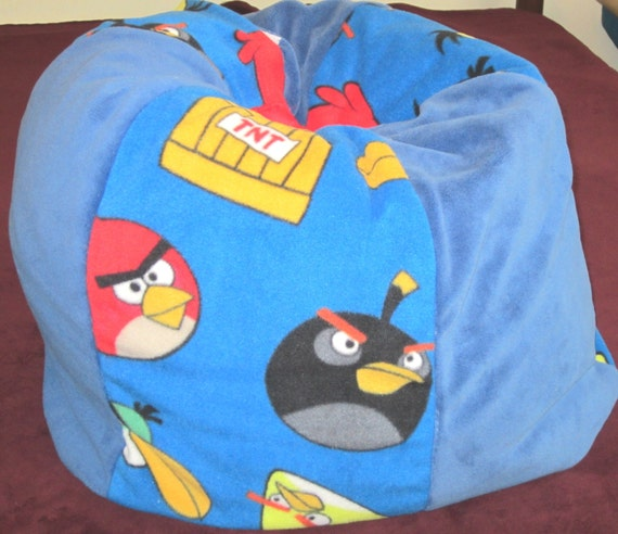 Sale Angry Birds Bean Bag Chair Immediate Shipment Kids Pouf